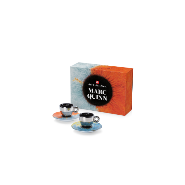 MARC QUINN COLLECTION 2 ESPRESSO CUPS/SAUCERS - ILLY