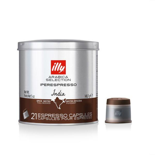 ILLY IPERESPRESSO COFFEE CAPSULES ARABICA SELECTION INDIA – 21 CAPSULES - buy espresso arabica coffee capsules
