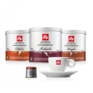illy Thailand Single Origin Coffee columbia-brasile-guatemala-bundle-with-espresso-cup